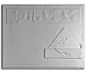 Età del bronzo. Arte dell'antico Egitto: un geroglifico e la sezione di una piramide