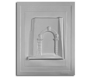 Architettura Etrusca. Volterra: porta dell'arco (IV sec. a.C.): prospetto