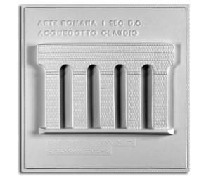 Architettura Romana. Acquedotto Claudio a Roma (I sec. d.C.): prospetto di sezione