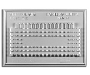 Architettura Romana. Basilica Giulia (I sec. a.C.): pianta