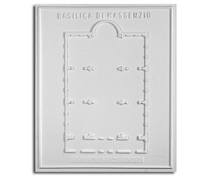 Architettura Romana. Basilica di Massenzio (IV sec. d.C.): pianta
