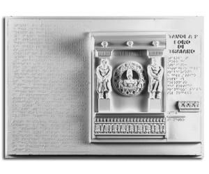 Architettura Romana. Foro di Traiano: particolare del fregio dei portici