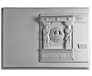 tettura Romana. Foro di Traiano: particolare del fregio della basilica Ulpia