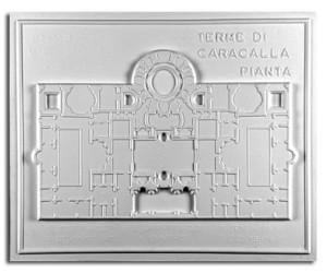 Architettura Romana. Terme di Caracalla (III sec. a.C.) - Roma: pianta