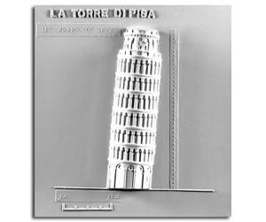 Architettura Romanica. Torre pendente (Pisa): prospetto