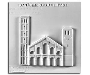 Architettura Romanica. Sant'Ambrogio (XI-XII sec.) (Milano): prospetto