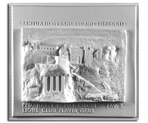 Architettura del '200. Santuario di Greccio (Rieti): prospetto