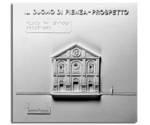 Architettura del '400. Duomo di Pienza (SI):  prospetto