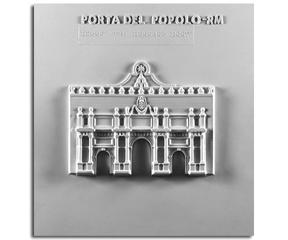 Architettura del '600. Porta del Popolo (Roma): prospetto