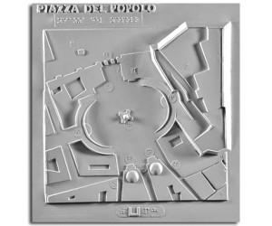 Architettura del '700. Piazza del Popolo (Roma): planimetria