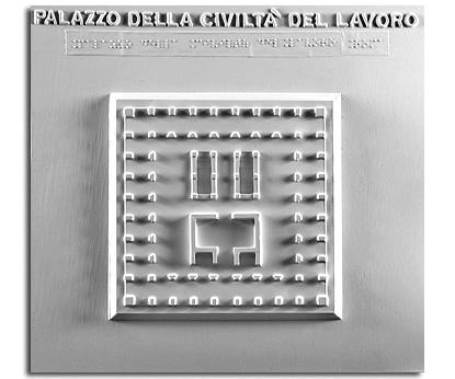 Architettura del '900. Palazzo della civiltà del lavoro (Roma): pianta