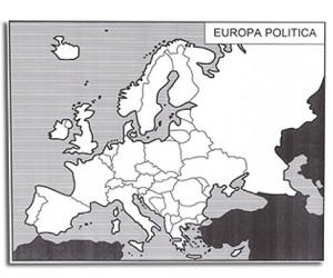 l'Europa e gli Stati Europei. Cartine mute