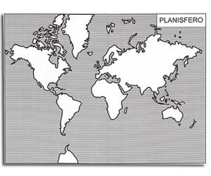 Il Planisfero e i Continenti. Cartine mute