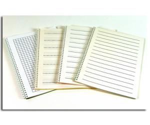 Quaderni per la scrittura in nero con righe a rilievo