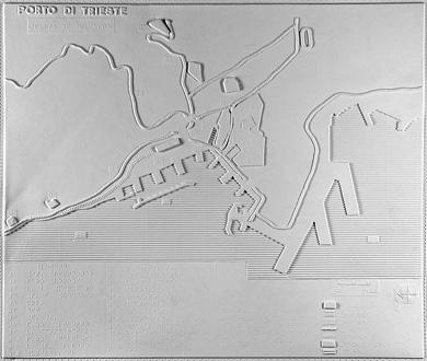 Pianta di Trieste: porto