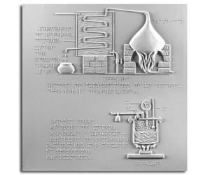 """Schema del funzionamento di un apparecchio per la distillazione e schema della """"pentola di Papin"""""""