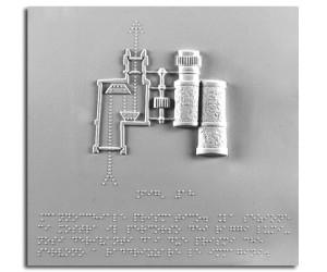 Albo VI – Fisica. Rappresentazione del cannocchiale prismatico con sezione dimostrativa del percorso